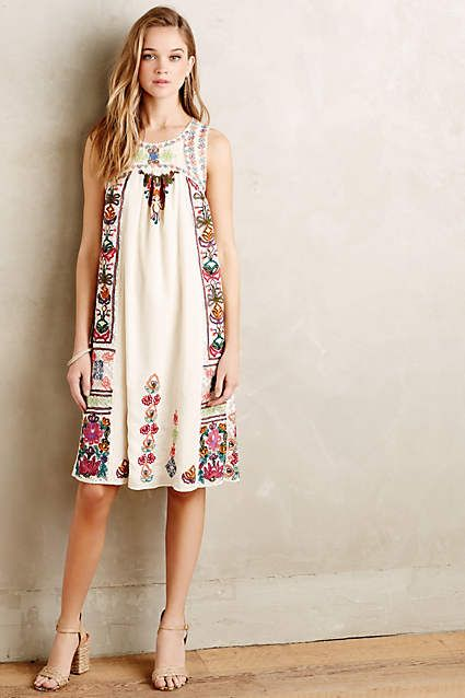 LOVE this dress! The embroidery is beautiful! Kirsi Dress - anthropologie.com
