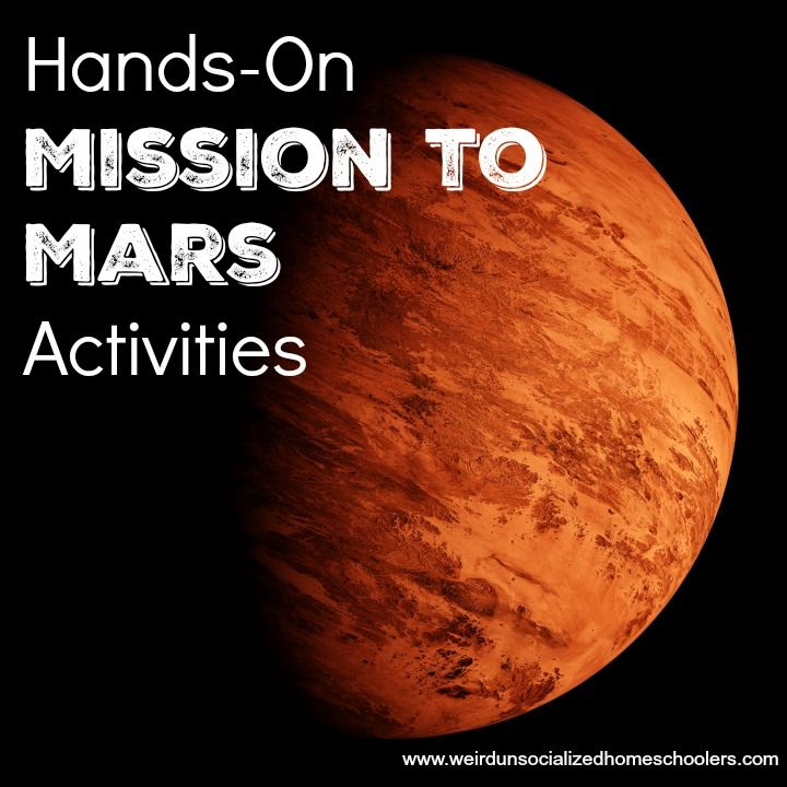 Hands-On Mission to Mars Activities #science #homeschool  @kris_wuhsmom