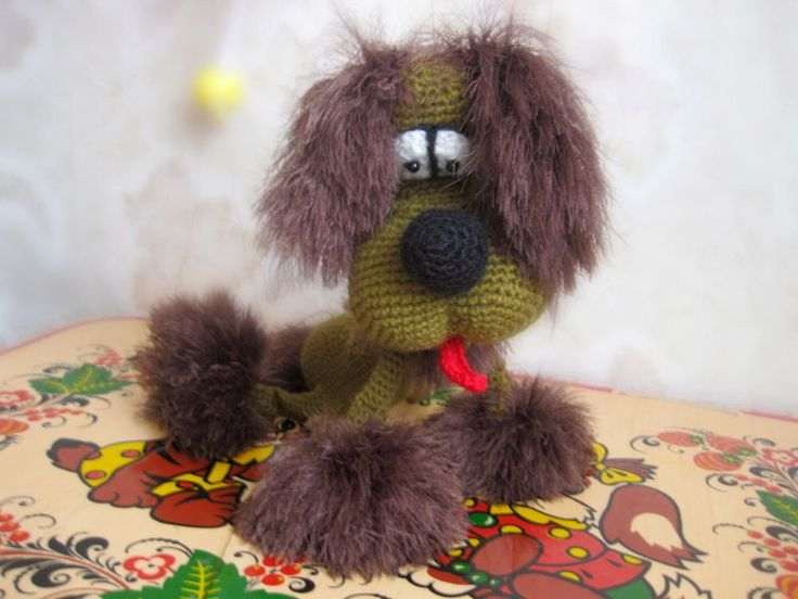 Собака марионетка, вязание крючком