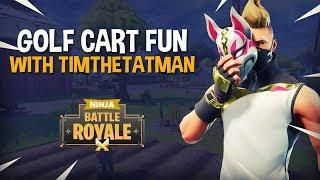 golf cart fun with timthetatman fortnite battle royale gameplay ninja - voiturette de golf fortnite