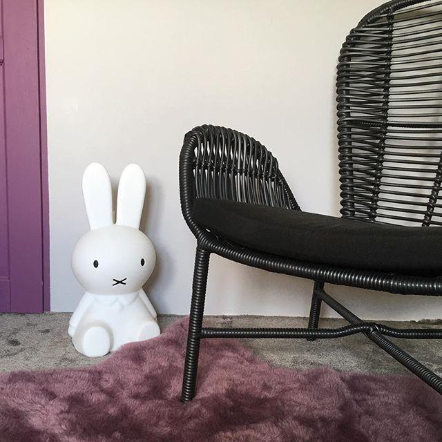 Fotel Sam i Miffy  #noonu #pokojdziecka #meble #dziecko #fotel #rattan #miffy #miffylamp #fiolet #kidsroom