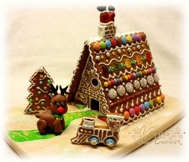 gingerbread house santa train christmas tree rudi raindeer. Black Bedroom Furniture Sets. Home Design Ideas