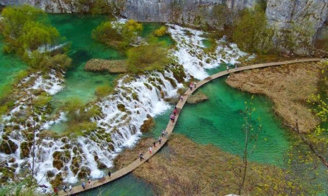 Horvátország szurdok túraút Plitvice vízesések * Alsó tavak
