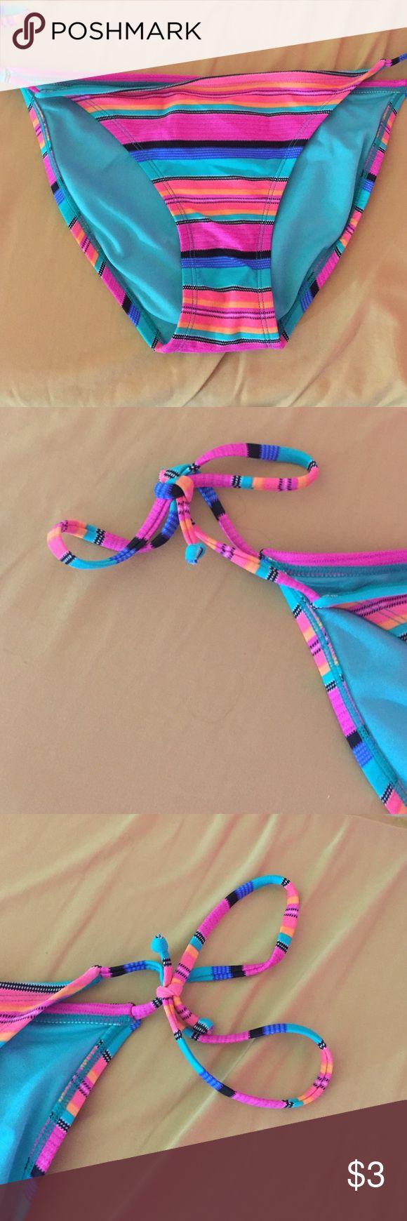 Multi colored bikini bottom Never been worn Xhilaration Swim Bikinis