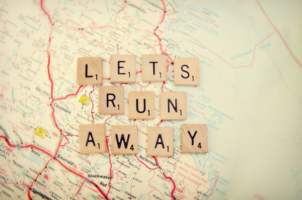 Art PrintLets Running Away, Maps, Art Prints, Scrabble Tile, Letsrunaway, Roads Trips, Travel Quotes, Wanderlust, Scrabble Letters