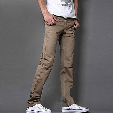 Men's Dual Zipper Casual Straight Pants – EUR € 16.24