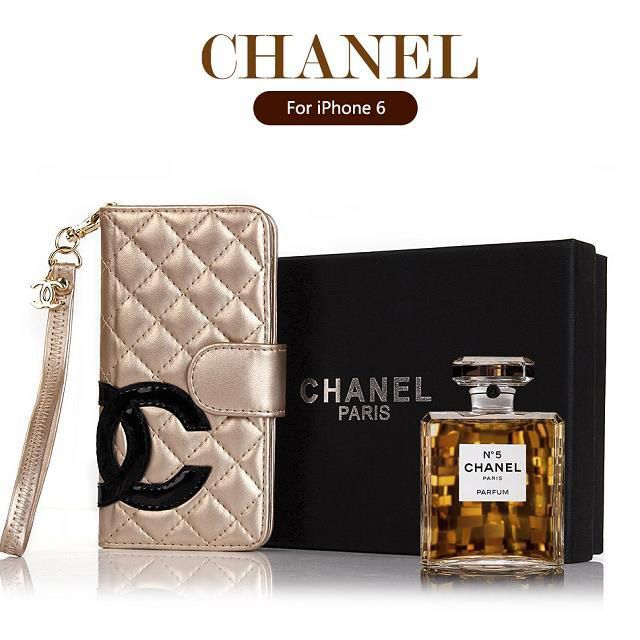 Chanel iphone 6 Case Designs Luxury buy leather Cover golden