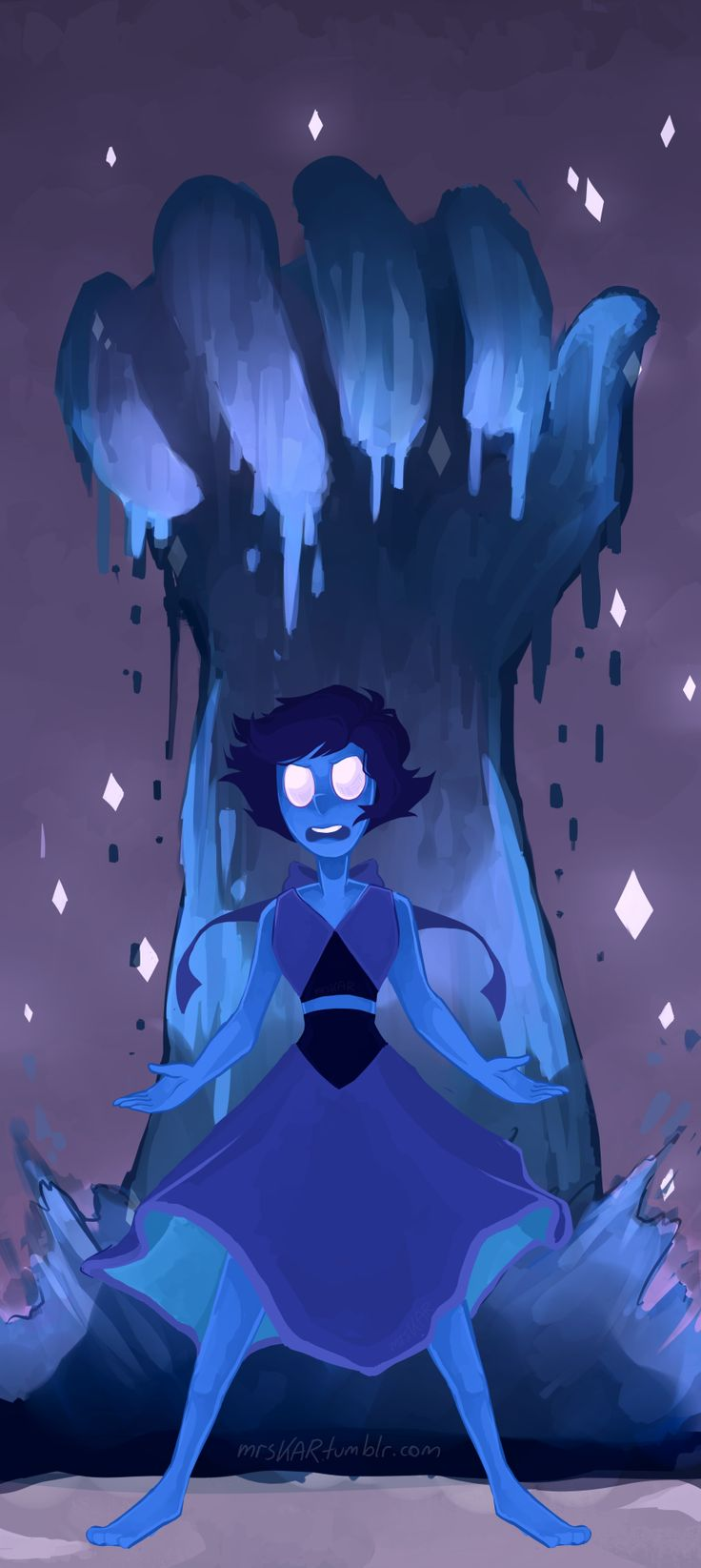 "mrskar:""I'm Lapis Lazuli, and you can't keep me trapped here anymore!""ayy lmao I did a new steven universe thing! B'^)"