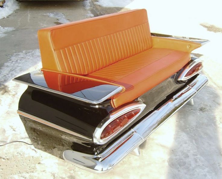 Original Real 1959 Chevy Impala Car Couch,auto Sofa,bench,booth (7 Pictures
