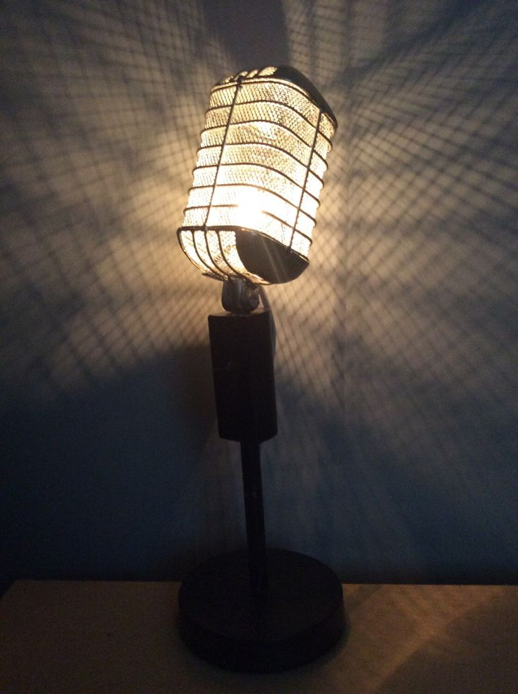 vintage Microphone lamp by Vongooz on Etsy https://www.etsy.com/listing/242641307/vintage-microphone-lamp