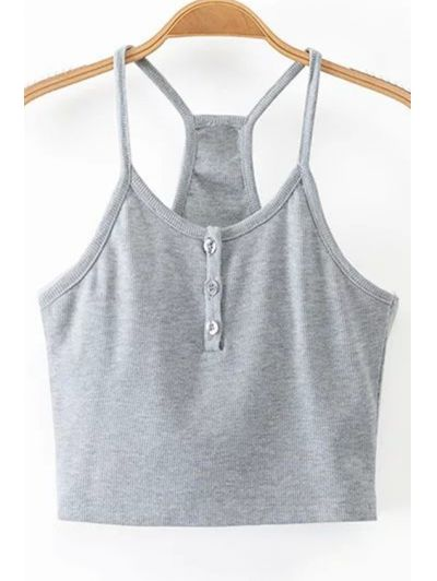 GET $50 NOW | Join Zaful: Get YOUR $50 NOW!http://m.zaful.com/single-breasted-fitting-spaghetti-straps-tank-top-p_214186.html?seid=1575121zf214186