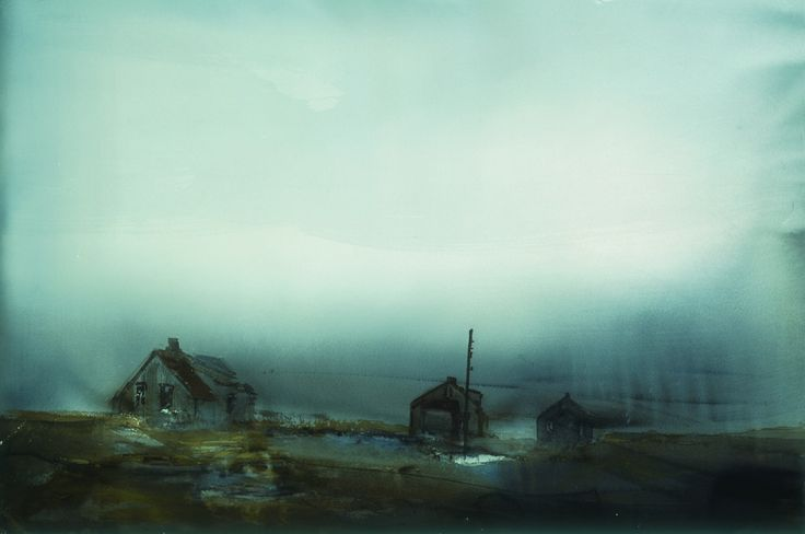 Lars Lerin, Mist 1997 - The collection | Nordiska Akvarellmuseet
