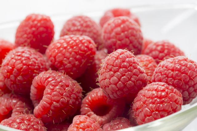 Raspberries are the heroes of the berry world. Cereal bowls, yogurt, or just as a straight snack, these small but powerful beauties pack 8 grams of fiber and only 64 calories per cup.
