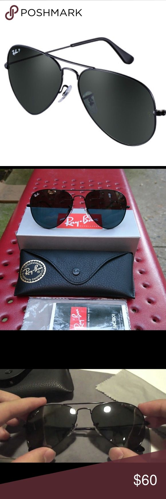 SAME DAY SHIPPING 😎 Rayban RB3025 002 Brand new and authentic RB 3025 002 58mm. Black/Black Grey Aviators. Orders placed before 3pm EST will be shipped the same day! Ray-Ban Accessories Sunglasses