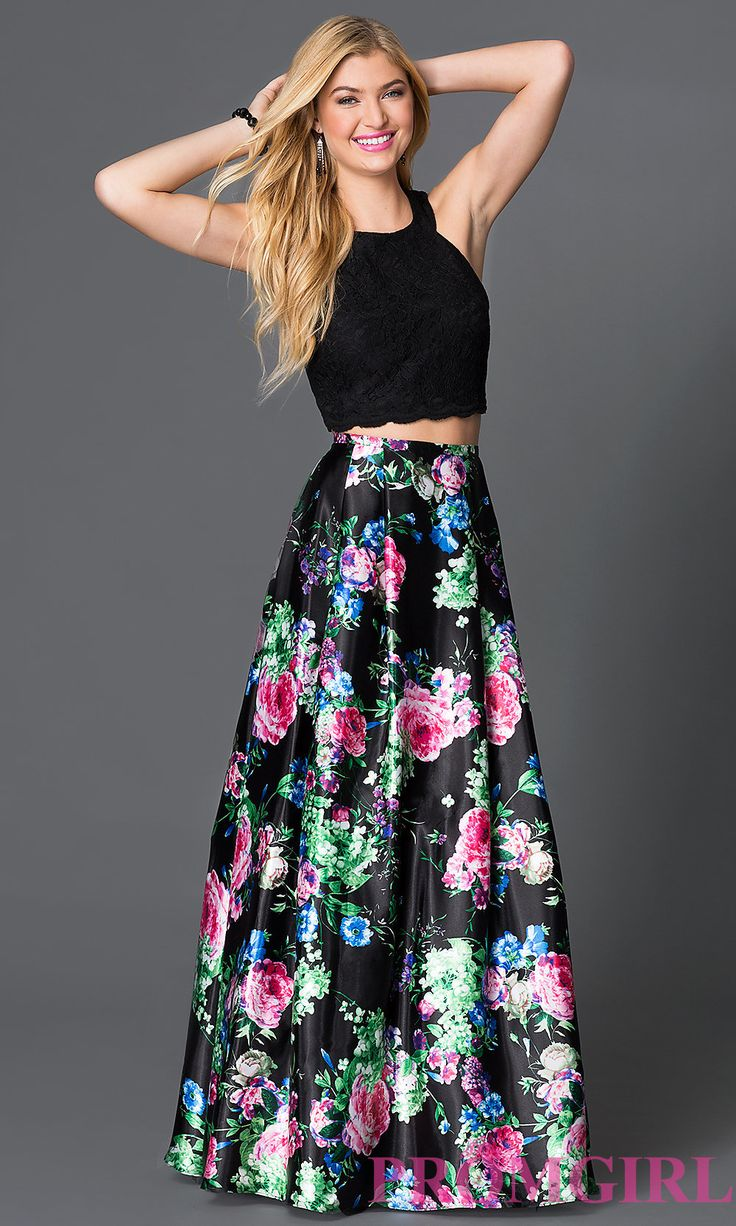 Crepe Crop Top and Lace Maxi Skirt Set Description: Perfect for every occasion leading up to the wedding, this two-piece outfit turns heads with a clean-lined, high-neck crepe crop top .