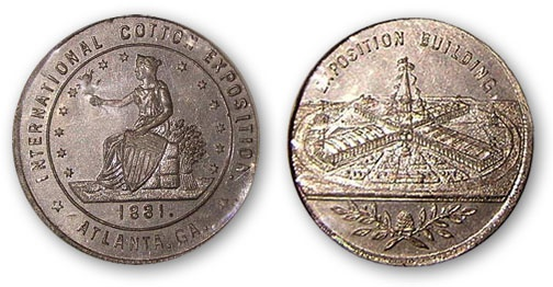 Souvenir medal, Atlanta International Cotton Exposition, 1881