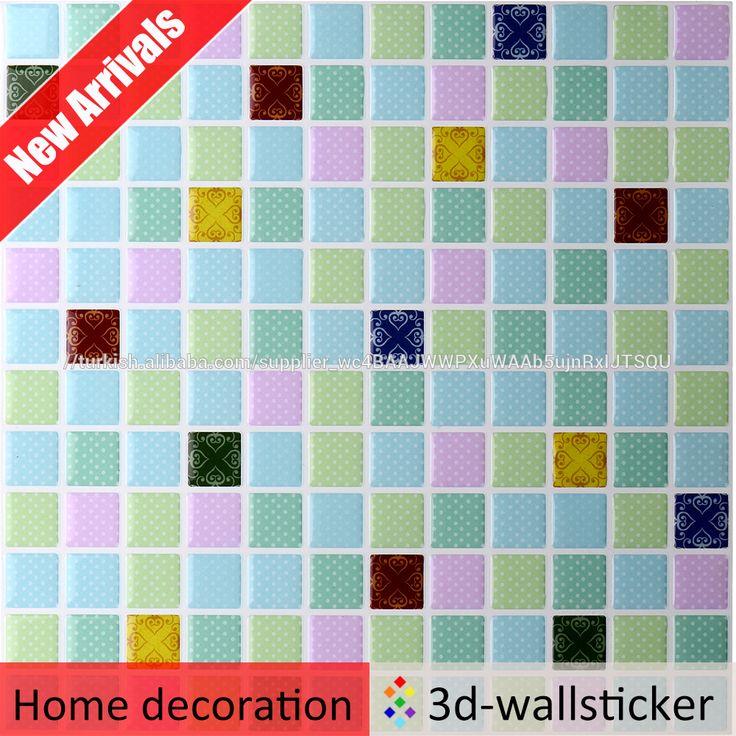 Anti-kalıp Kabuğu ve Sopa Duvar Karosu Jel 3D Banyo Vinil Duvar Karosu Çıkartmaları