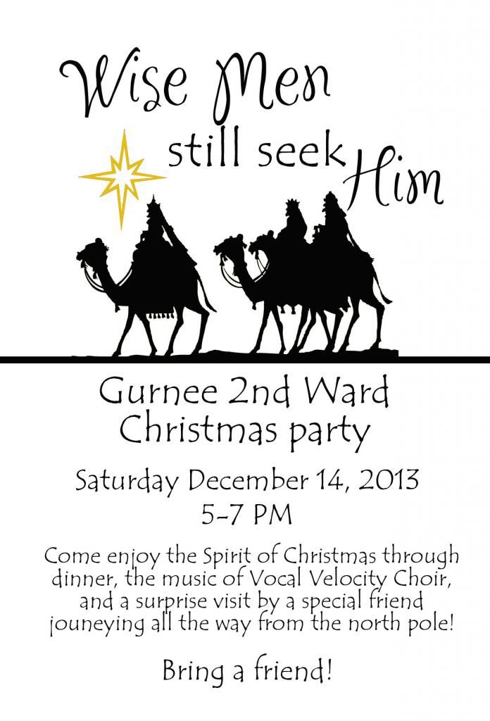 Brian and Anna: Ward Christmas Party: Wise Men Still Seek Him