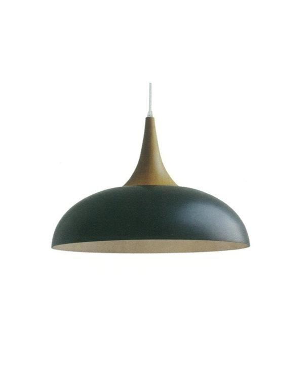 Brindisi Black and Wood Pendant Light