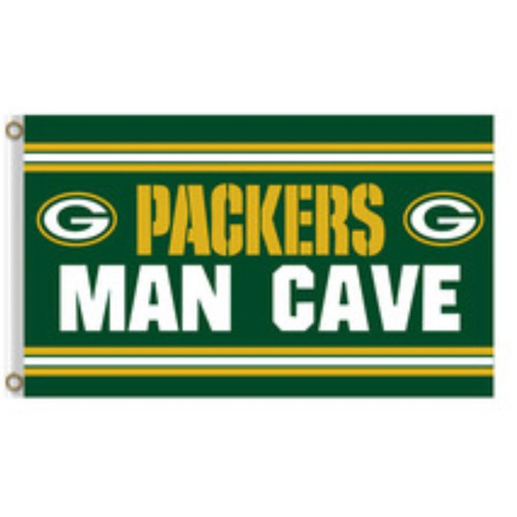 """For Sale New Green Bay Packers 3' x 5' Flag Sign Banner 36"""" x 60"""" Mancave Football NFL #GreenBayPackers #GreenBay #Wisconsin #Football #NFL #Packers"""