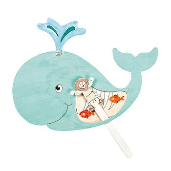 Color Your Own Jonah & the Whale Craft Kit - Oriental Trading