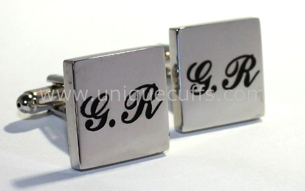 Add some color with your groomsmen initials engraved in color.