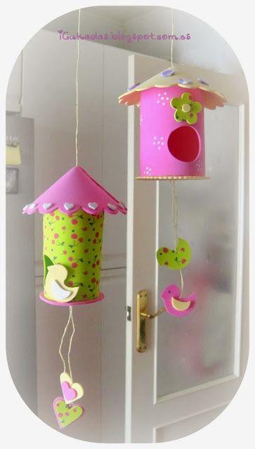 Casitas para pájaros decorativas