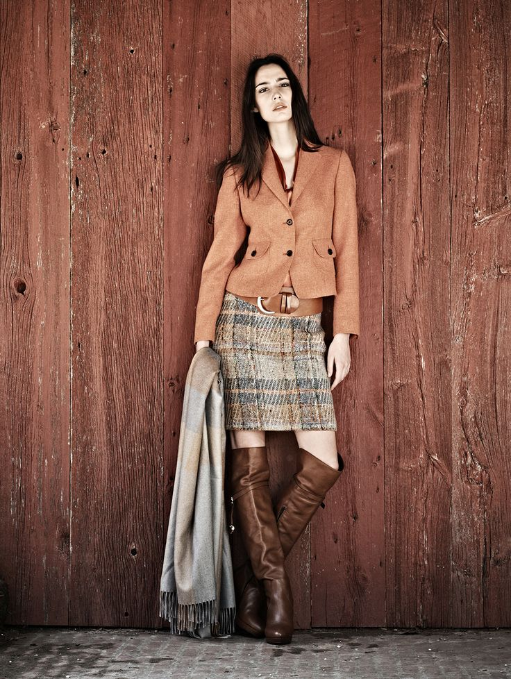 SMART CASUAL[autumn]: brown over the knee boots; earth