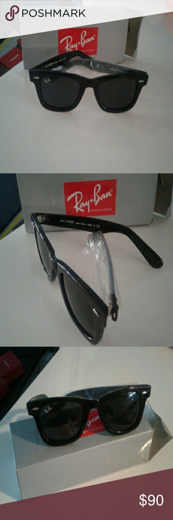 New sunglasses  ray ban  wayfarer Nice black sunglasses  come with  box Ray-Ban Accessories Glasses