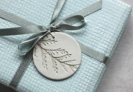 Salt Dough ornaments and tags - love the cedar branch detail