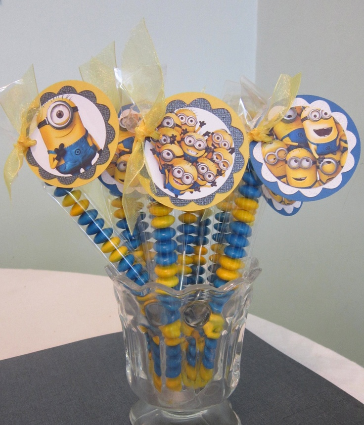 Despicable Me Minion cupcake toppers. $12.00, via Etsy.