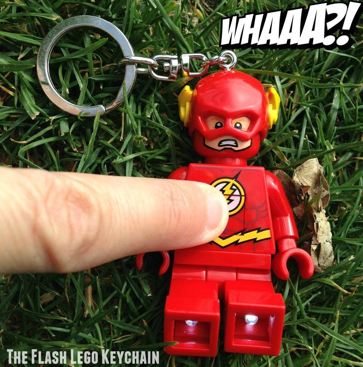 The Flash Lego Keychain #TheFlash #Lego #DcComics You wouldn't believe how much fun we had with a keychain!