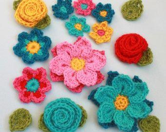 CROCHET PATTERN Floral Fantasy 5 modelli di fiore di TheHatandI