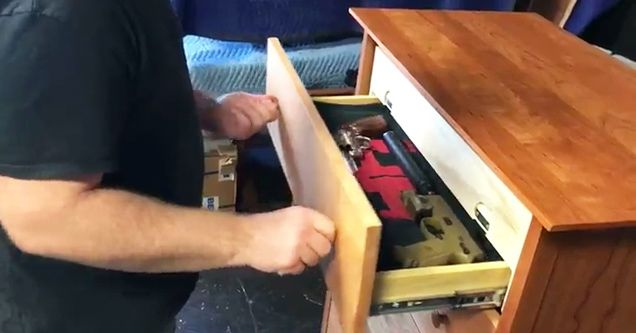 A clever piece of furniture made by Sirearms.