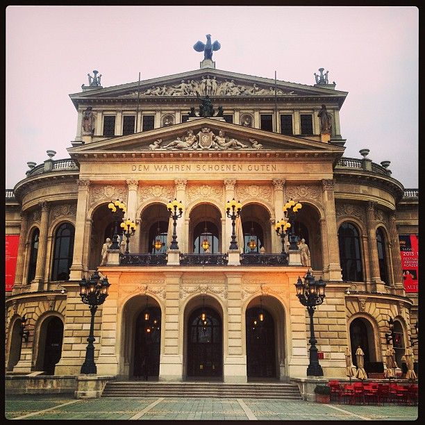 "22 Likes, 1 Comments - Michelle Teng (@i.am.babytopaz) on Instagram: ""The opera house in Frankfurt! <3 #frankfurt #operahouse #sis #cousin"""