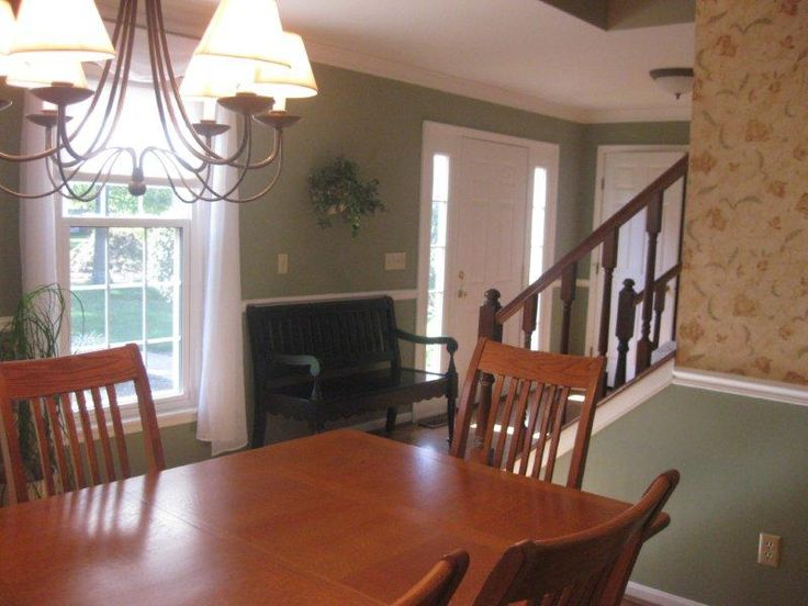Dining Room Terrific Classic Design With Sage Green Wall Paint Color Ideas Equipped