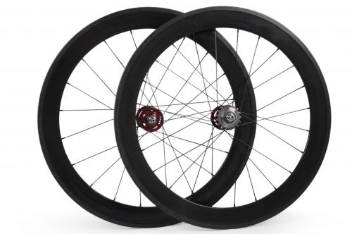 Ericbicycle 60mm clincher carbon track bike wheelset fixed gear single speed bicycle wheels