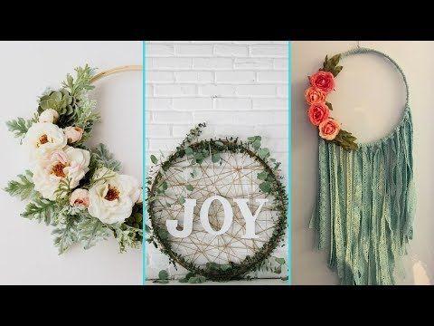 26 Diy Shabby Chic Style Hula Hoop Wreath Decor Ideas Home