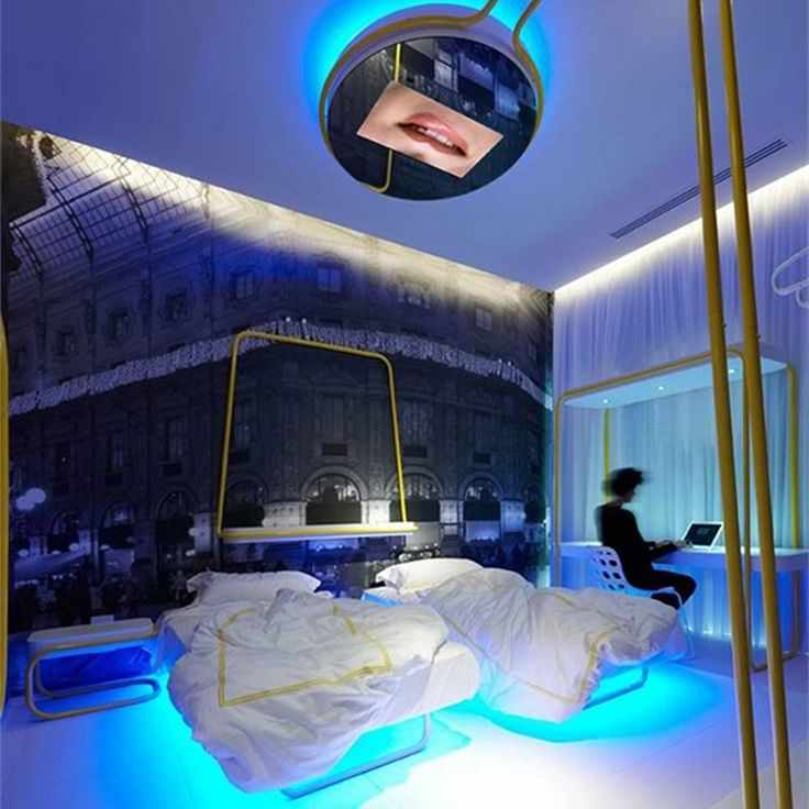 Exotic Bedroom Interior At Hotel Interior Architecture With Amazing Led Lights Ideas
