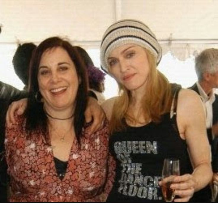 """Madonna with her stylist of over 20 years Arianne Phillips. She said: """"Mostly what Madonna wears is an evolution of what is relevant at the time. The visuals reflect the music in a kind of seamless marriage of her point of view."""""""