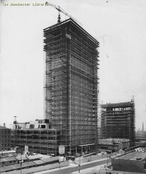 CIS Building under construction, Manchester.