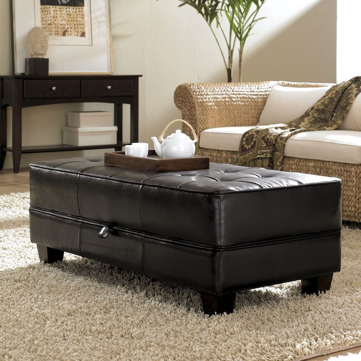 Coffee Table Footrest Storage: 1000+ Ideas About Ottoman Coffee Tables On Pinterest