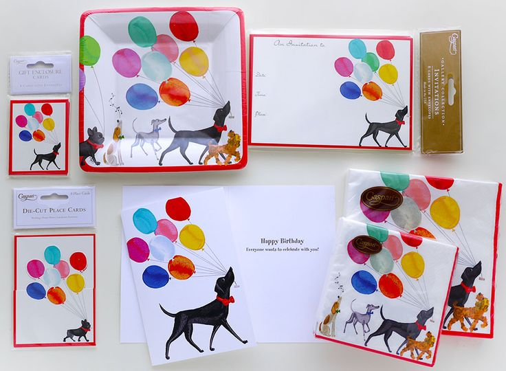 Caspari | Perfect items for kids birthday party and even for your dogs. illustration by Masaki Ryo.