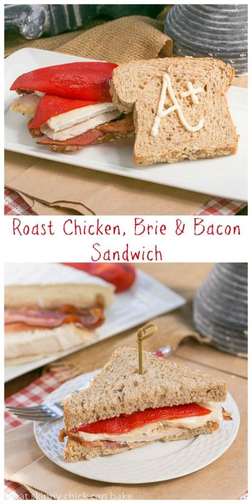 Roasted Chicken Brie and Bacon Sandwich | A scrumptious sandwich that would perk up any lunch box! #ad