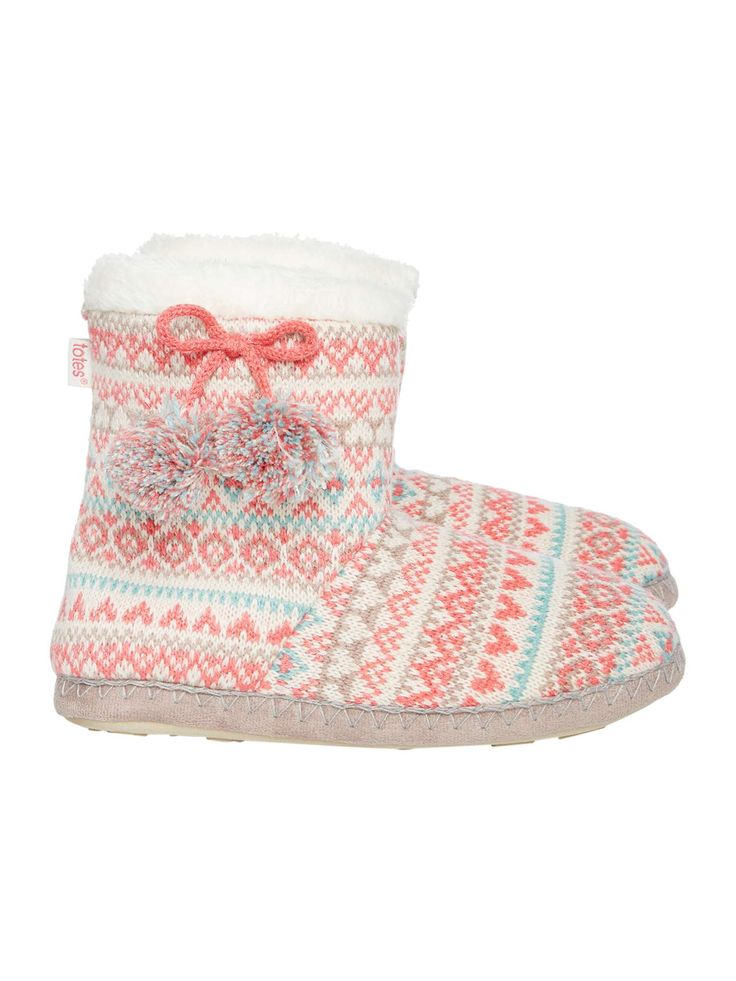 Buy your Totes Fairisle Boot With Pom Pom online now at House of Fraser. Why not Buy and Collect in-store?