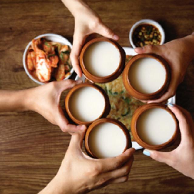 makgeolli - Wheat and rice alcohol. used to be nongju or farmer's liquor.