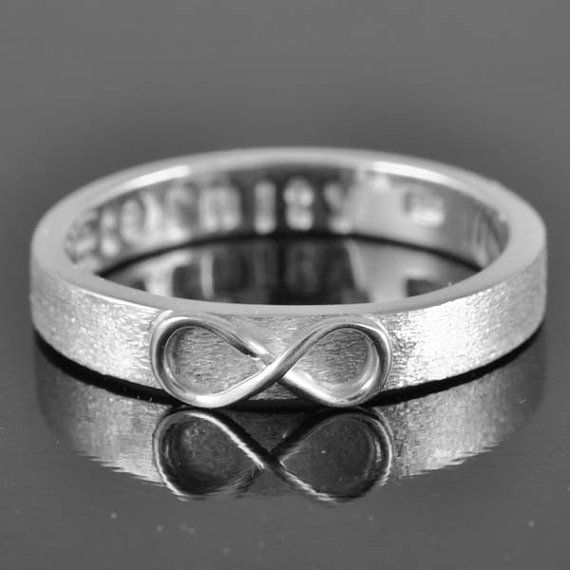 infinity ring knot best friend promise personalized by JubileJewel