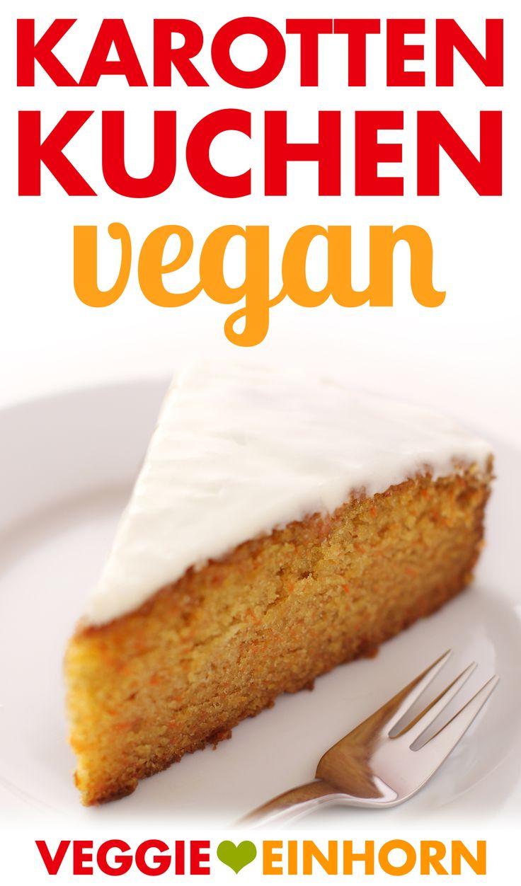 Saftiger veganer Karottenkuchen | Einfach, schnell und lecker Veganer Kuchen