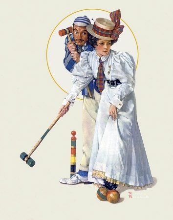 Norman Rockwell - croquetArtists Norman Rockwell, Rockwell Art, Rockwell 1931, Vintage, Art Norman Rockwell, Saturday Evening Post, Wicket Thoughts, Magazines Covers, Croquet