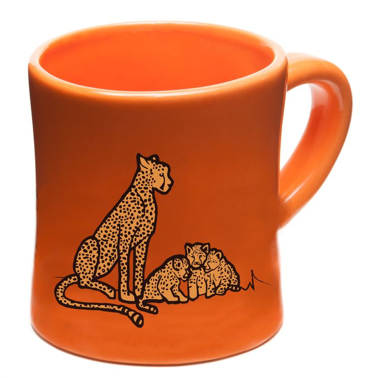 Kid-Sized Ceramic Mugs - Rhinoceros & Cheetah